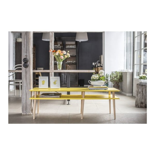 Žlutý konferenční stolek Ragaba Mugo,délka119cm