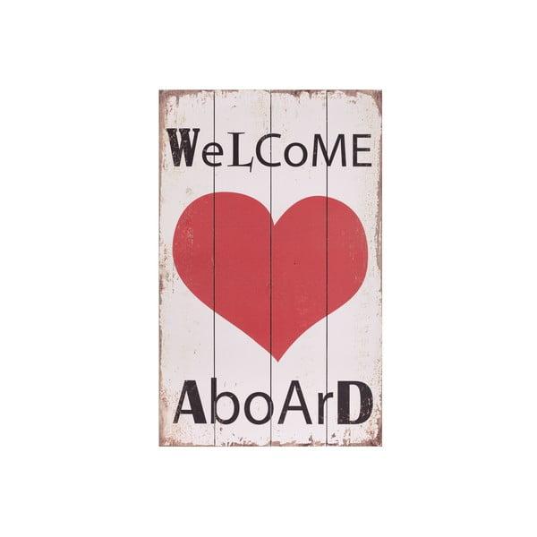 Dřevěný obraz Artesania Esteban Ferrer Welcome Aboard