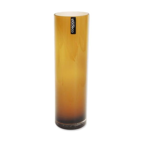Skleněná váza Tube, oranžová