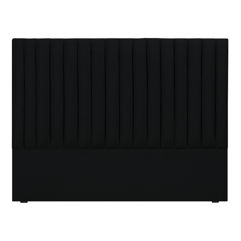 Černé čelo postele Cosmopolitan design NJ, 140 x 120 cm