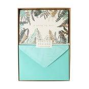 Set 10 felicitări cu plic Portico Designs FOIL Ferns