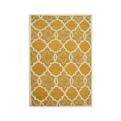 Žlutý ručně tuftovaný koberec Bakero Retro, 153x244cm
