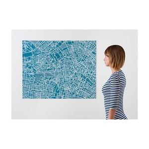 Modrá nástěnná mapa Palomar Pin Berlín