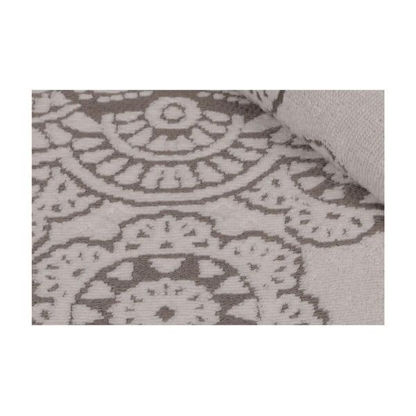 Sada 2 šedých bavlněných ručníků Carmelo Lerro, 50 x 90 cm