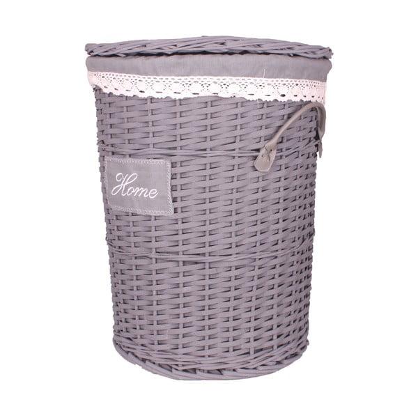Sada 3 šedých proutěných košů na prádlo Maiko