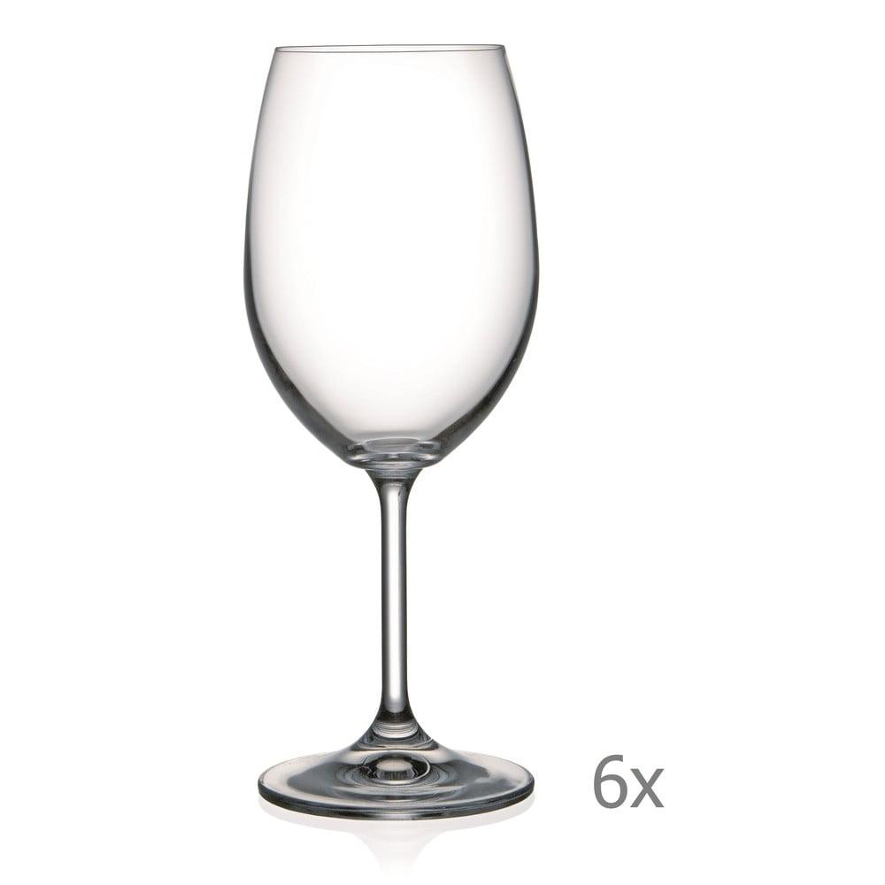 Sada 6 sklenic na víno Crystalex Lara, 450 ml