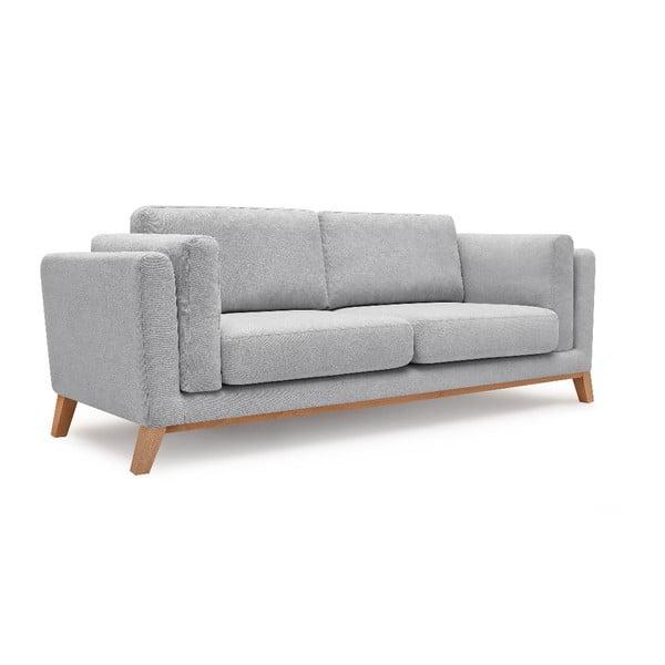 Canapea cu 3 locuri Bobochic Paris Enjoy, gri deschis