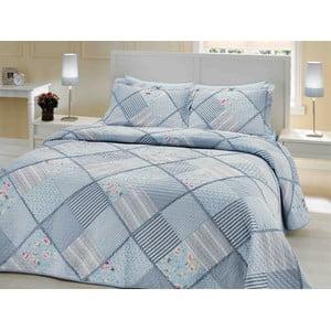 Sada přehozu přes postel a dvou polštářů Double 201, 250 x 260 cm