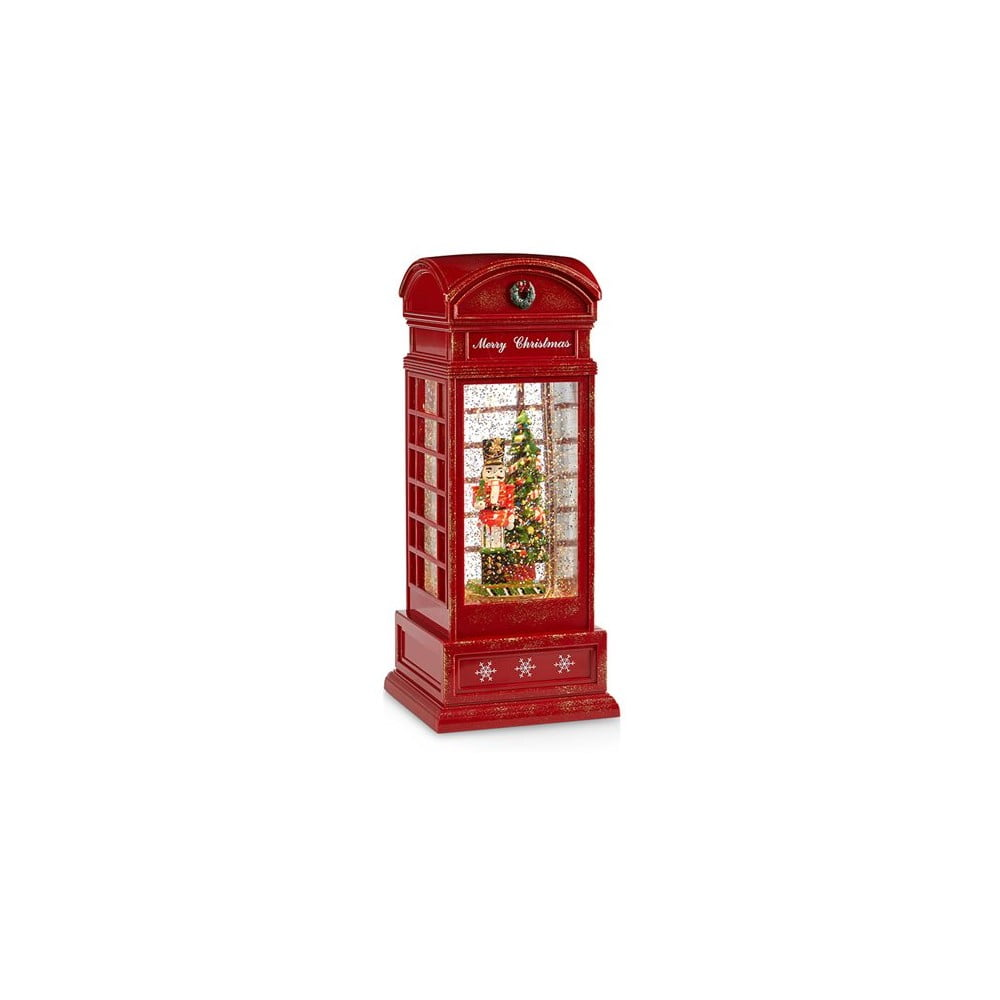 Červená vánoční světelná dekorace Markslöjd Mister Telephone