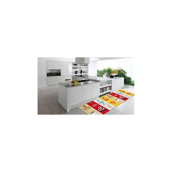 Vysoce odolný kuchyňský koberec Webtappeti Fastfood, 60x150 cm