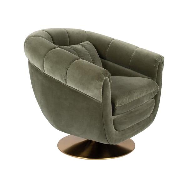 Memeber olívazöld bársony fotel - Dutchbone