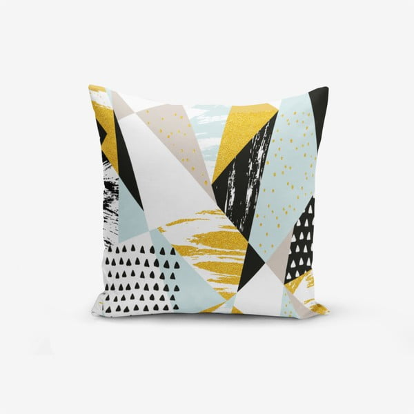 Liandnse Modern Geometric Sekiller pamutkeverék párnahuzat, 45 x 45 cm - Minimalist Cushion Covers