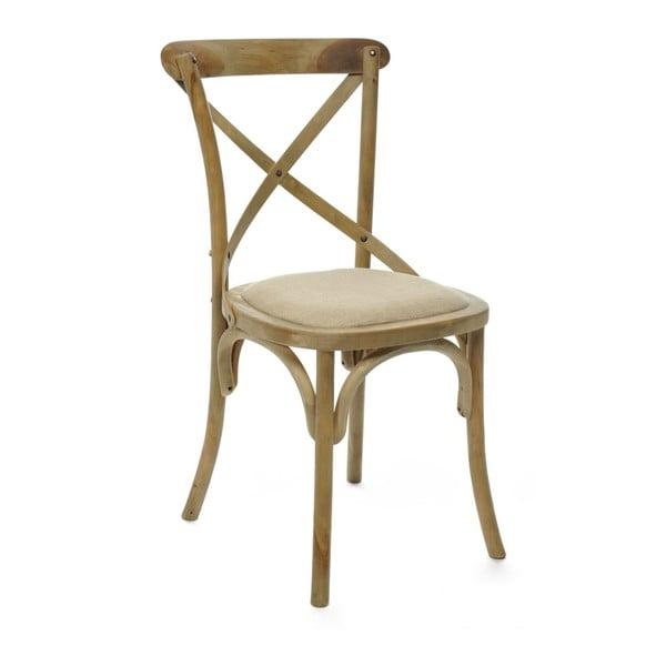 Židle Cross Beige, 45x54x88 cm