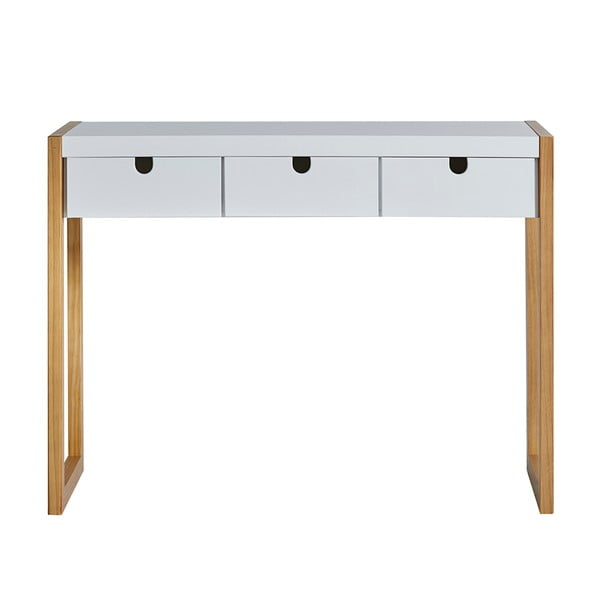 Bílý konzolový stolek Marckeric Square, 101 x 77 cm
