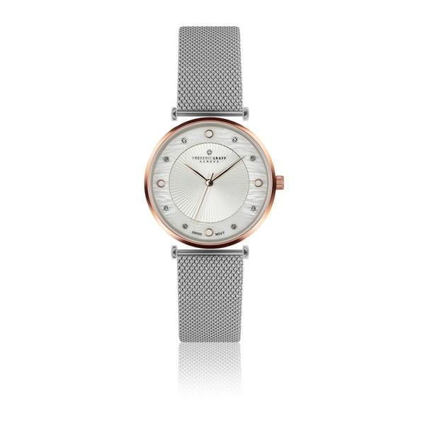 Dámske hodinky s remienkom v striebornej farbe z antikoro ocele Frederic Graff Pulio