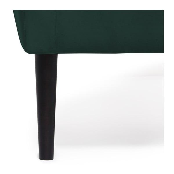 Tmavě zelené křeslo Vivonita Blair