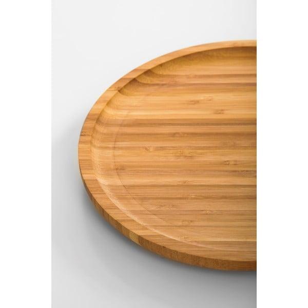 Bambusový otočný podnos Bambum Lily, 28 cm