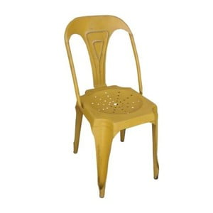 Kovová židle Chaise Jaune