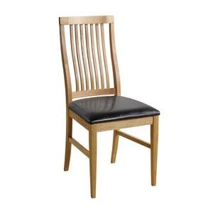 Sada 2 přírodních židlí s černým potahem  Folke Kansas