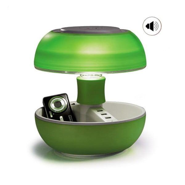 Stolní lampa, nabíječka a reprák v jednom Joyo Light, zelená