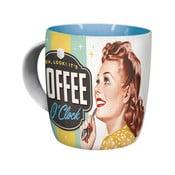 Keramický hrnek COffee Clock, 330 ml