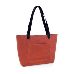 Tmavě oranžová kožená kabelka Woox Rostellum