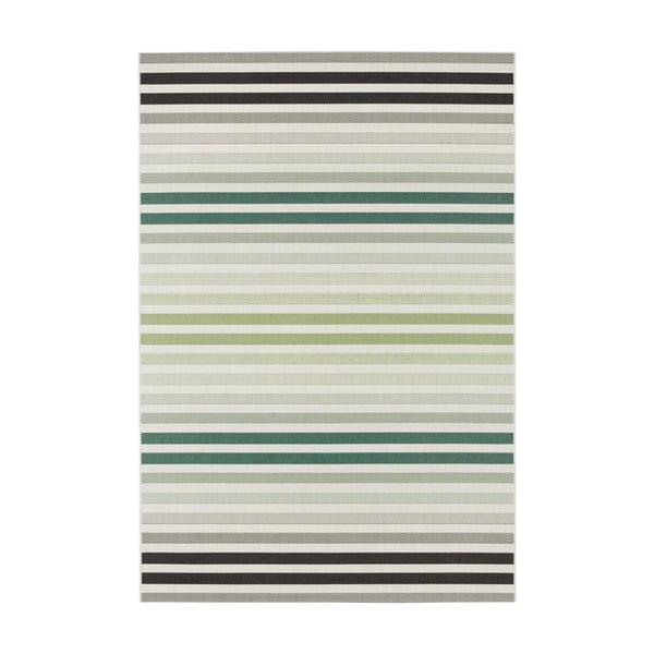 Covor potrivit pentru exterior Bougari Paros, 120 x 170 cm, verde - gri