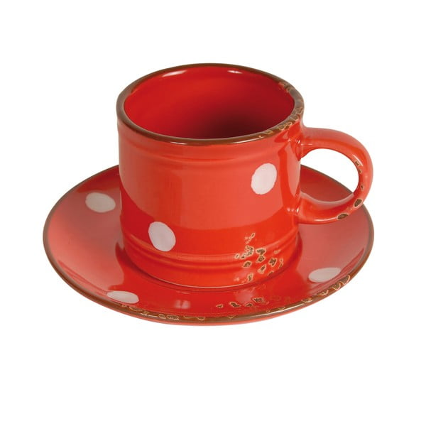 Hrnek s podšálkem Cup Red
