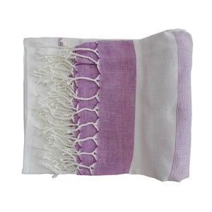 Fialová ručně tkaná osuška z prémiové bavlny Homemania Gokku Hammam,100x180 cm