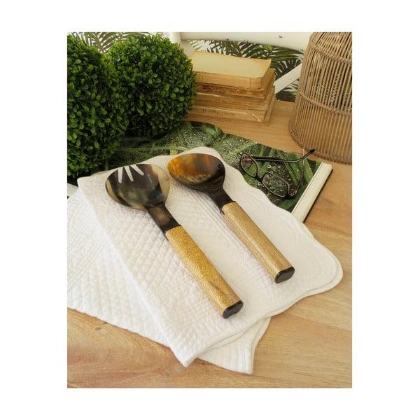 Set de 2 tacâmuri pentru servire cu mâner din lemn Orchid Milano