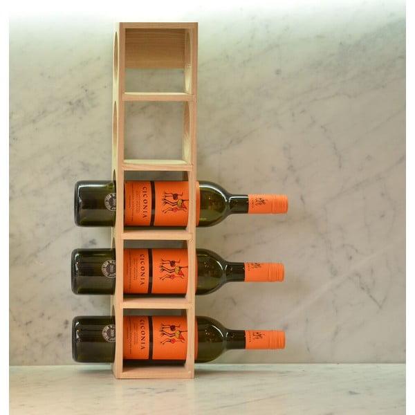 Stojan na 5 lahví vína z dubového dřeva Wireworks Wine