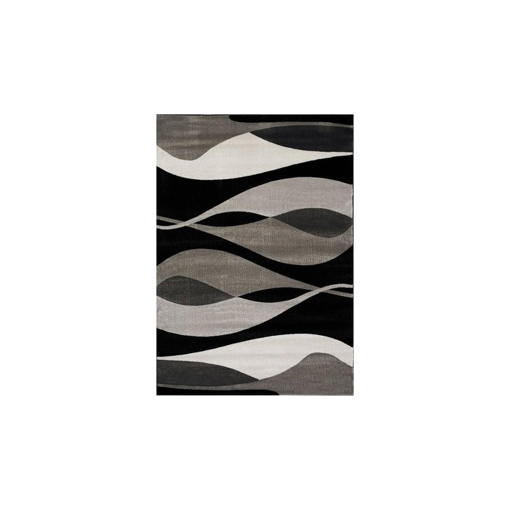 Šedo-černý koberec Webtappeti Manhattan Hudson,120x170cm