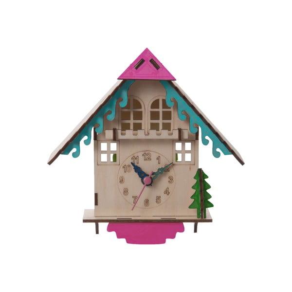 Dřevěné hodiny na složení House