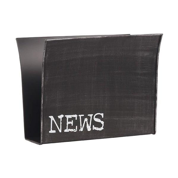 Suport metalic pentru reviste LABEL51, negru