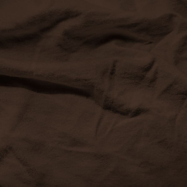 Tmavě hnědé elastické prostěradlo Homecare,190-200x200-220cm