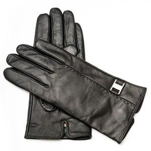 Dámské černé kožené rukavice <br>Pride & Dignity Rome, vel. 8,5