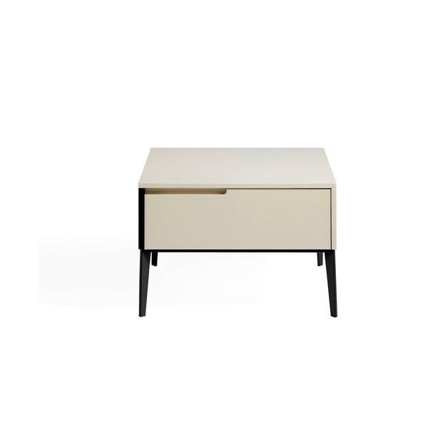 Krémově bílý noční stolek se zásuvkou Ángel Cerdá Epoxy