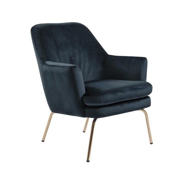 Niebieski fotel Actona Chisa