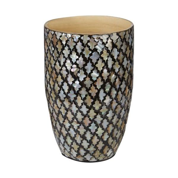 Váza z bambusu s mozaikou Complements Oval Vase
