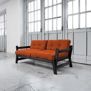Rozkládací pohovka Karup Step Black/Orange