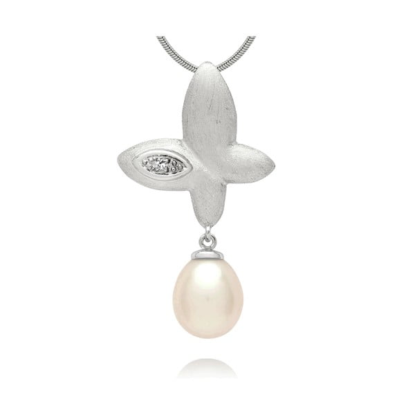Přívěsek Pure Pearls Silver Diamond Freedom