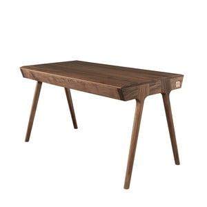 Pracovní stůl z ořechového dřeva s úložným prostorem Wewood - Portuguese Joinery Metis