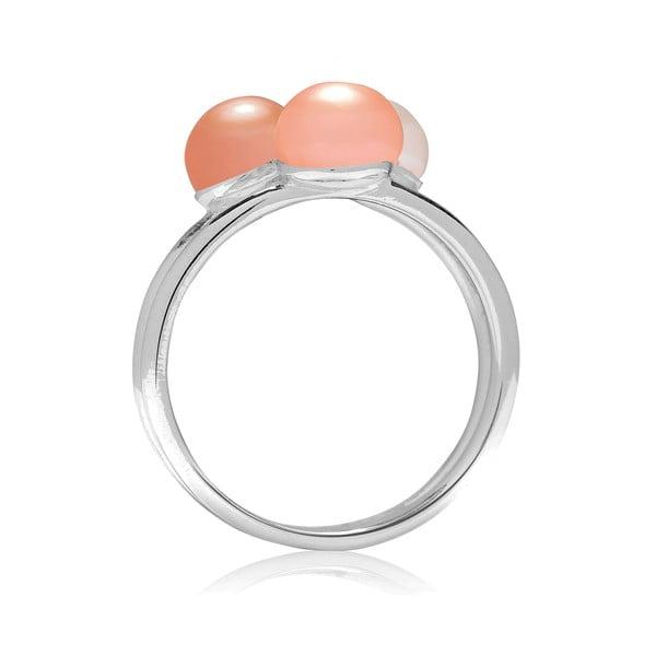 Prsten Pure Pearls Peach, vel. 52
