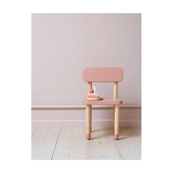 Růžová dětská židle Flexa Play