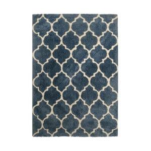 Modrý koberec Smooth, 80x150cm