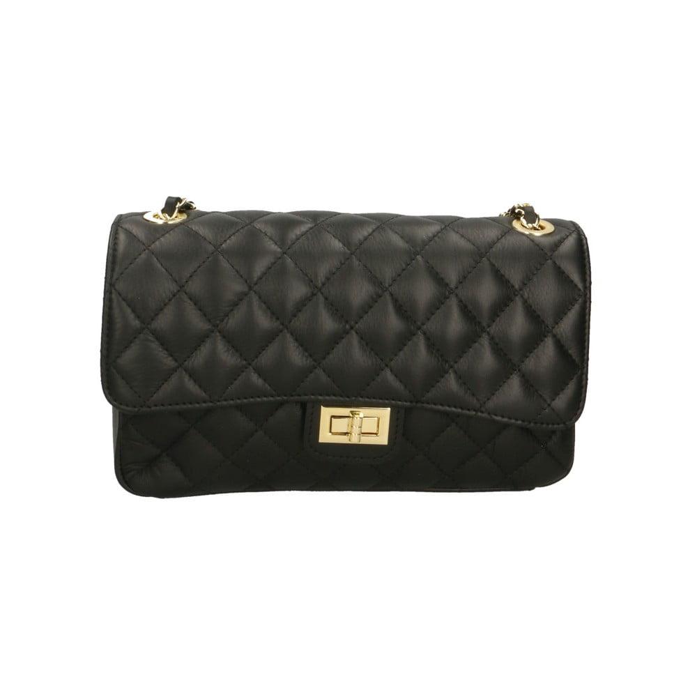 Černá kožená kabelka Roberto Buono Pamela