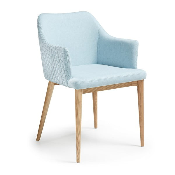 Světle modrá jídelní židle La Forma Danai