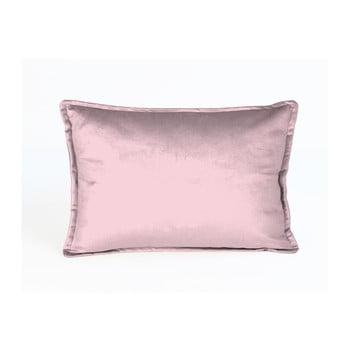 Față de pernă decorativă Velvet Atelier Tereza, 50 x 35 cm, roz poza