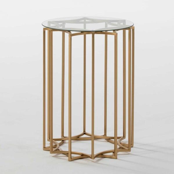 Odkládací stolek ve zlaté barvě Thai Natura Chang