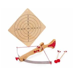 Dřevěná kuše na hraní s terčem Legler Crossbow
